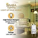 Simba Lighting Halogen Light Bulb G8 T4 20W JCD