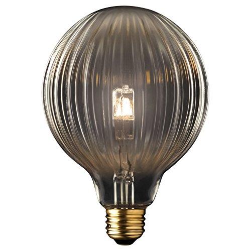 Globe Electric 40W Designer Vintage Globo Halogen Light Bulb  E26 Base  360 Lumens  84656