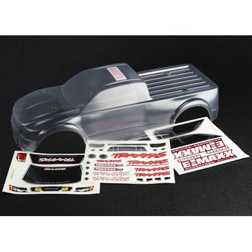 - Traxxas 3915 E-Maxx Brushless Decal Sheet Body Model Car Parts, Clear