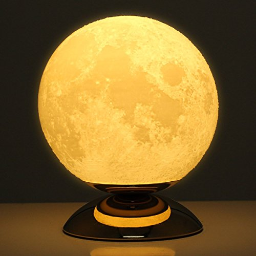 Tooarts Moon 3D Printing Lamp Modern Sculpture Kids Bedroom Night Light Home Decoration by Tooarts