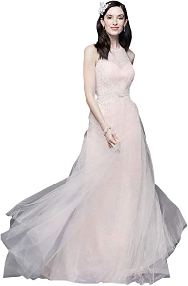 David S Bridal Lace And Tulle Cross Back Wedding Dress Style