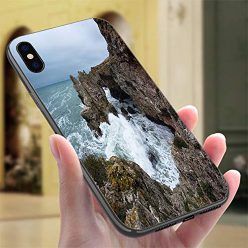 Creative iPhone Case for iPhone Xs MAX Rock Formation The Ark Black Sea Bulgaria Resistance to Falling, Non-Slip,Soft,Convenient Protective Case ()