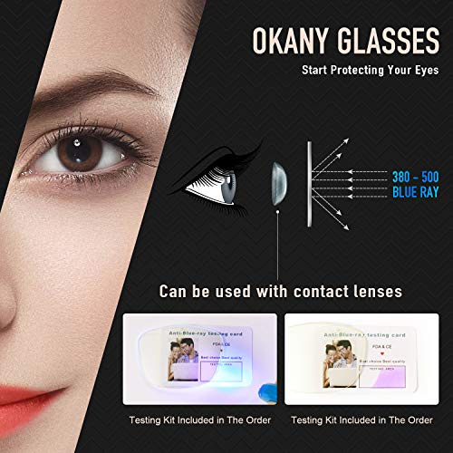 Blue Light Blocking Glasses Women Men Lightweight TR90 Eyeglasses Blue Light Glasses Computer Glasses for Women & Men