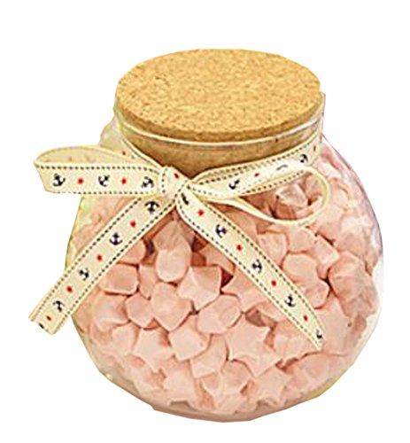 (Black Temptation Lucky Bell Wishing Bottle Lucky Bottle Glass Jar with Cork Stopper)