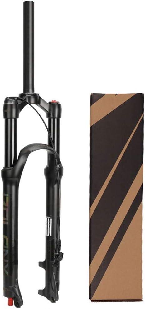 LvTu 26/27,5/29 Pulgadas Bicicleta Horquilla de Suspensión MTB, Ultraligero Freno de Disco Horquillas de Aire por XC Campo a Través Bicicleta de Montaña Cuesta Abajo Ciclismo: Amazon.es: Jardín