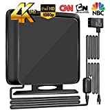 120Miles Directional TV Antenna[Upgraded 2019] Indoor High Reception Amplified HDTV Antenna for TV Signals High Reception Digital TV Antenna for 4K/VHF/UHF/1080P Free Channels 13ft Coax