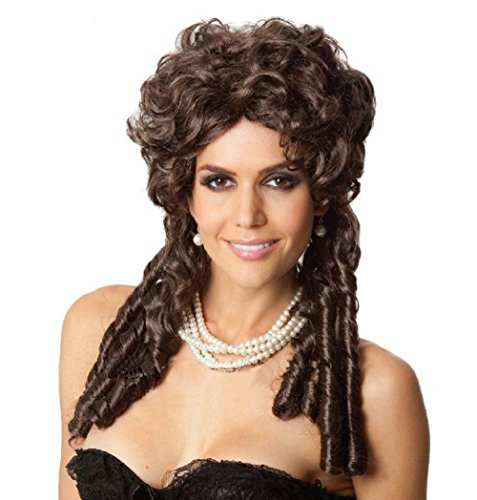 [JJ-GOGO Princess Belle And Scarlett O'Hara Costume Wig Brown Curly Hair Wig] (Belle Wigs)