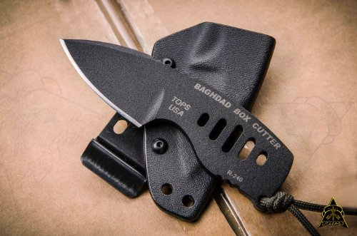 TOPS Knives Baghdad Box Cutter Fixed Blade Knife ()