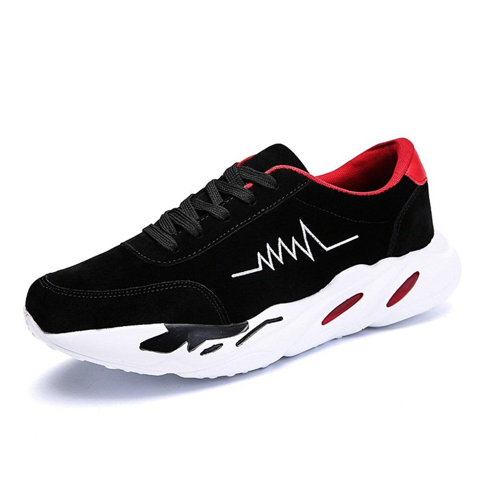 Yajie-schuhe Herren Sportschuhe Schnüren Sich Outdoor-Sportschuhe (Farbe   schwarz rot, Größe   44 EU)