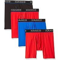 Hanes Ultimate Men's Comfort Flex Fit Ultra Lightweight Mesh Boxer Brief 4-Pack