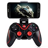 T3+ Wireless Bluetooth 3.0 Gamepad Gaming Controller for Android Smartphone (Size: 14.5cm by 9.5cm by 2.5cm, Color: Black)