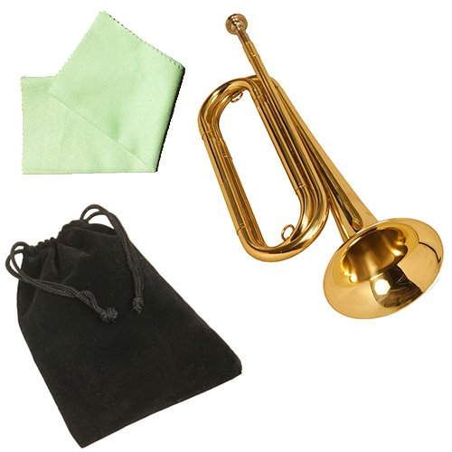 Regiment Regulation Bugle w/Accessory Pack -Polish Cloth & Mouthpiece Bag by MBI Packs
