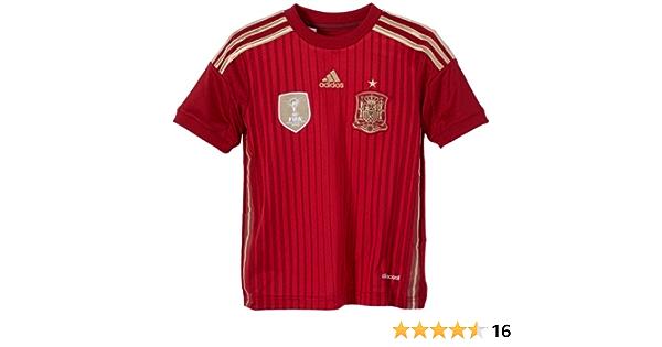 adidas Selección Española de Fútbol - Camiseta de fútbol para niño, 2014, Color Rojo: Amazon.es: Ropa y accesorios