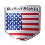 FidgetFidget Refitting Car Decals Sticker Alloy Metal Emblem US USA American Flag Car Badge