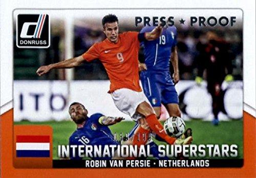 2015 Donruss International Superstars Press Proof Silver #43 Robin van Persie /199 Soccer -