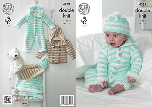 King Cole Cuddles DK Double Knitting Pattern Baby Clothes Se