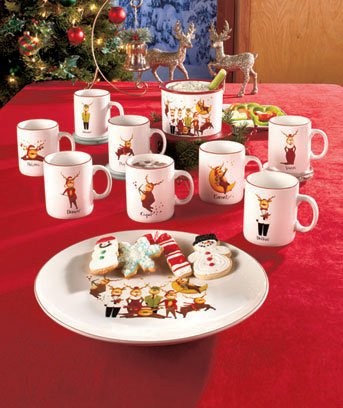 Reindeer Christmas Holiday Serving Platter