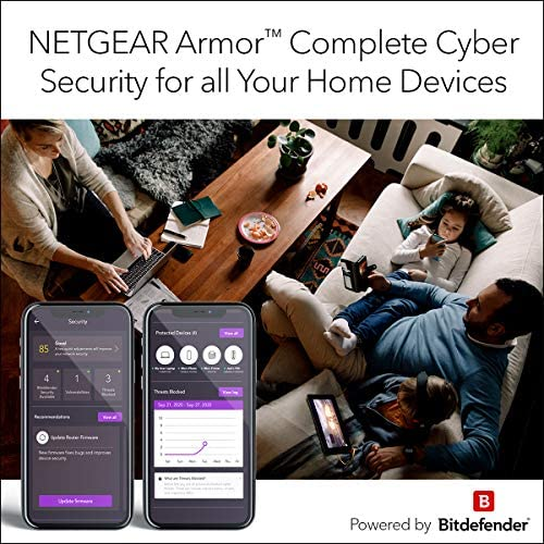 NETGEAR Nighthawk Whole Home Mesh WiFi 6 System (MK62) - AX1800 router with 1 satellite tv for pc extender, protection as much as 3,000 sq. feet. and 25+ units