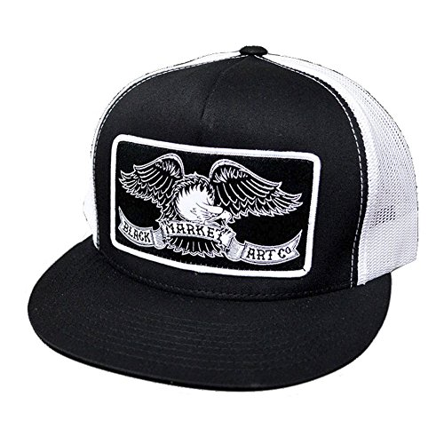 - Ian McNiel Eagle Classic Two Tone Trucker Hat Black and White