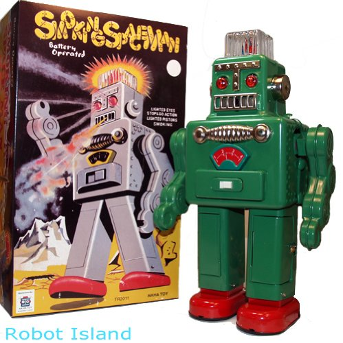 Smoking Spaceman Robot Tin Toy (Spaceman Tin)