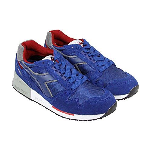 Diadora Mens Boots (Diadora C 4000 NYL II Mens Blue Suede/Synthetic Athletic Running Shoes 10)
