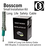 Bosscom Robotic Lawn Mower Installation Kit Long Life Safety Cable - for Husqvarna Automower, Honda Miimo, Robomow, Worx Landroid