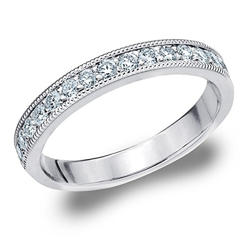 14K White Gold Diamond Milgrain Edge Pro - Prong Set Diamond Eternity Band Shopping Results