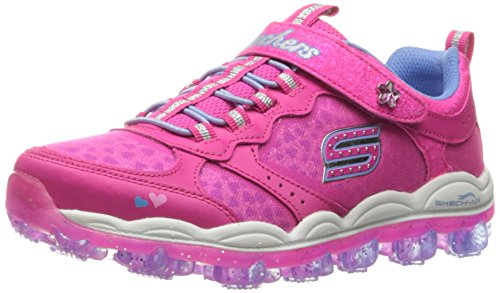 Skechers Kids Skech Air Stardust Sneaker (Little Kid/Big Kid), Stardust Neon Pink/Periwinkle, 1 M US Little Kid