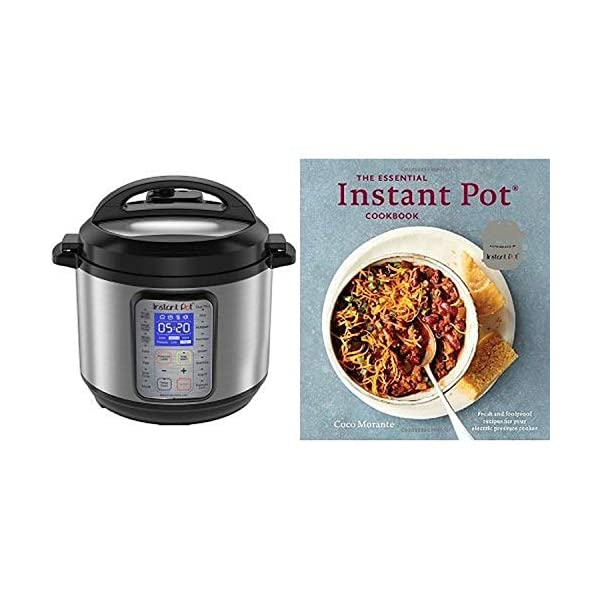 Instant Pot DUO Plus 6 Qt 9-in-1 Multi-Use Programmable Pressure Cooker with The Essential Instant Pot Cookbook 1