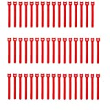 Pasow 50pcs Reusable Fastening Adjustable Cable Ties Wire Management (6 Inch, Red)