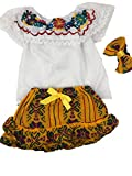 Mexican Infant Skirt and Blouse Size 0 Set 3 PC Day