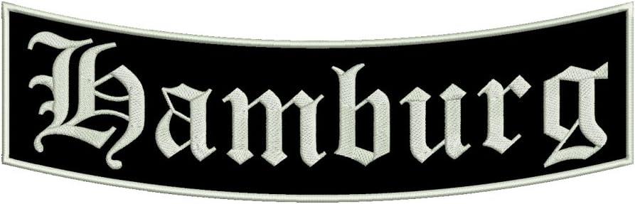 St/ädtepatch 35x11cm Stadtname Ein unterer Bogen B1 mit ca Aufn/äher Hamburg