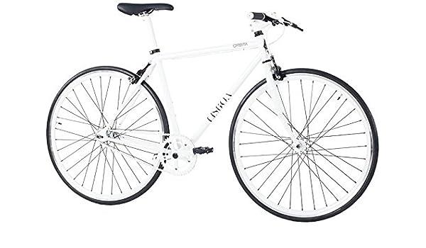 28 pulgadas Hombre Fixie Bicicleta Orbita Lisboa, weiß: Amazon.es ...