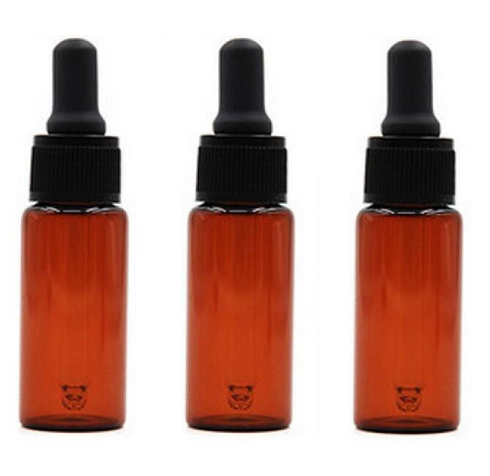 3Pcs 15ML 15G Brown Glass Eye Dropper Bottle With Pipettes Cosmetic Sample Dropping Container Bottles Holder For Perfume Liquid Essential Body Oil