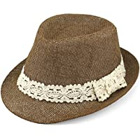 Evolatree Trilby Fedora Hats for Kids - Summer, Beach & Party Hat for Boys & Girls - Short Brim Childrens Sun Hat
