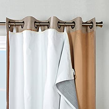 Amazon.com: Room Darkening Draperies Curtains Liners - Thermal ...
