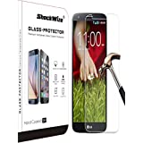 LG Stylo 2 Plus Ballistic Screen Protector ShockWize [Tempered Glass] .3mm Thin Premium Real Glass Screen Protector LG Stylo 2 Plus MS550