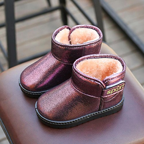 Hunpta Kinder Herbst Winter Warm Kinder Martin Mädchen Casual Snow Boots Lila