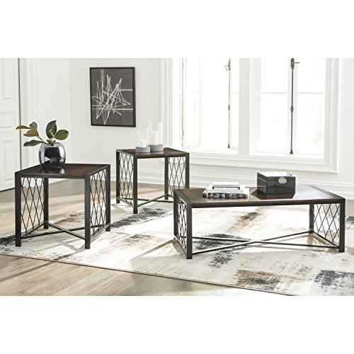 (Flash Furniture Signature Design by Ashley Harpan 3 Piece Occasional Table Set)