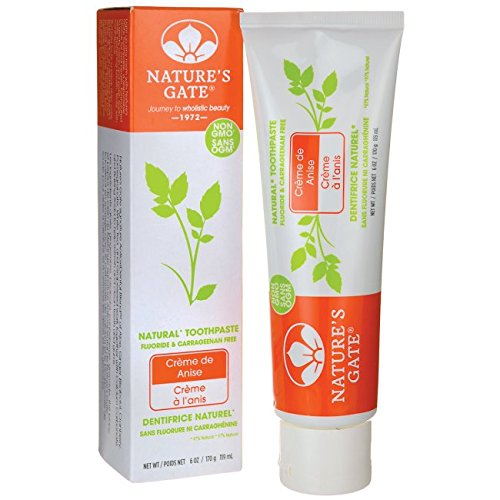 Nature's Gate Toothpaste, Creme de Anise ,6 (Creme De Anise Natural Toothpaste)