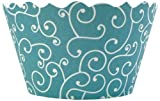 Bella Cupcake Couture Swirl, Sea Blue Cupcake Wrappers, 50-pack