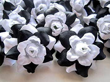 Amazon 100 silk black white roses flower head 175 amazon 100 silk black white roses flower head 175 artificial flowers heads fabric floral supplies wholesale lot for wedding flowers accessories mightylinksfo
