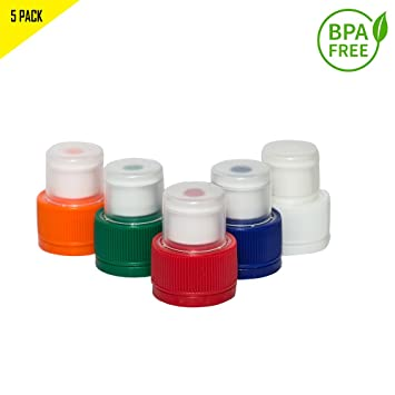 Materiales de plástico 16oz Cinco Colores Pack Botella Push ...