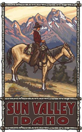 Northwest Art Mall Sun Valley Idaho Summer Cowboy Artwork by Paul A Lanquist, 11-Inch by - Mall Sun Valley