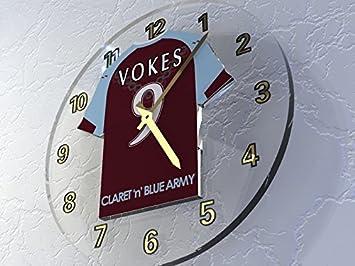 Reloj de pared, diseño de camiseta de fútbol de la Premier