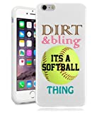 Softball iPhone 6 Case By NickyPrints(TM) - Softball Dirt Bling Inspirational Life Quote Teen Girls UNIQUE Designer Gloss Candy TPU Flexible Slim Case Cover Skin for iPhone 6