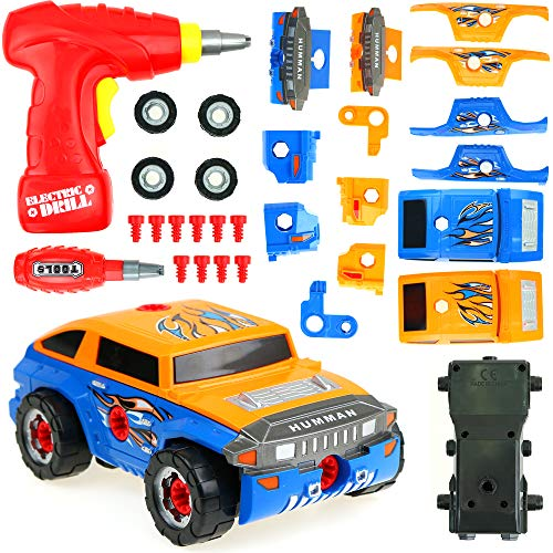 Big Mo's Toys Building Car - Build Your Vehicle Racing Cars Project Gift Kit Present for Boys and Toddlers -