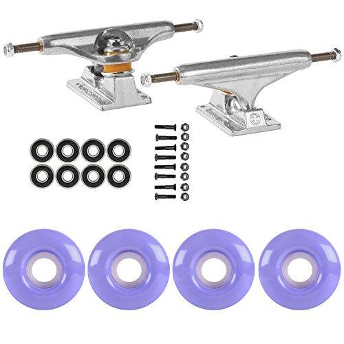 スケートボードパッケージIndependent 139 Trucks 50 MmラベンダーパープルABEC 7 Bearings [並行輸入品]   B078WVTXZ7
