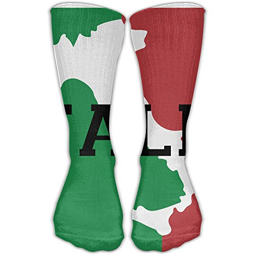 ZXM Crew Stockings Italia Italy Italian Flag Athletic Knee High Protective 30cm Long Socks For Girls And - Italia Apparel Pro