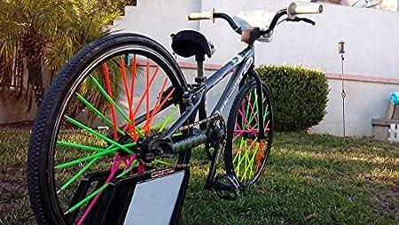 Colorful Bike Wheel Decoration-72 Pcs YUANQIAN Blue Super Pop Bicycle Spoke Skins Wraps-Best Gift for Kids/&Schoolmate/&Bike Fans